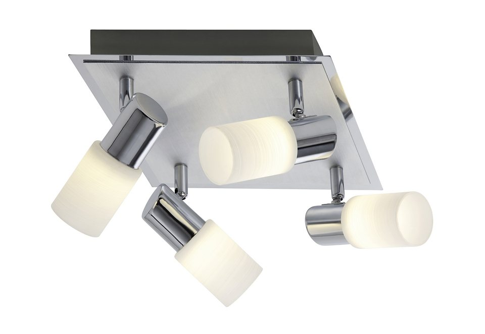 LED-Deckenlampe »NEW«, 4-flg., Trio in silberfarben