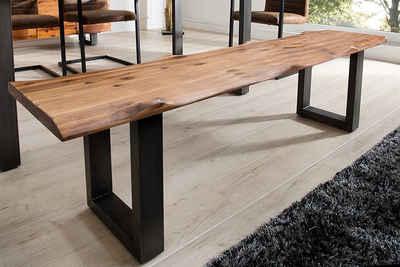 riess-ambiente Sitzbank »GENESIS 160cm natur / schwarz«, mit Baumkante aus Massivholz