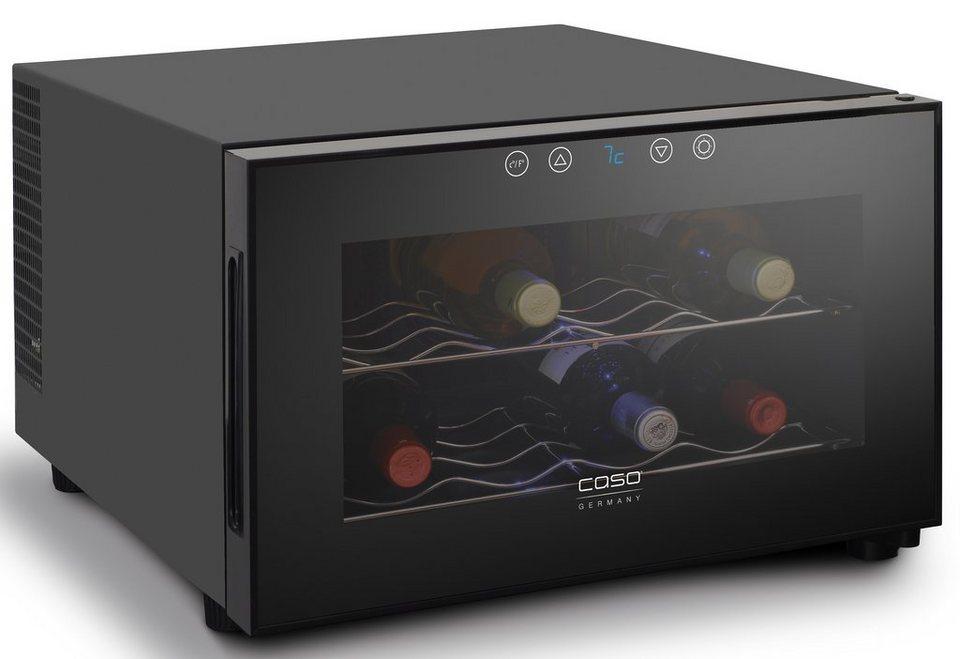 CASO Design Weinkühlschrank »WineCase 8«, Höhe 41 cm, für 8 Standardflaschen á 0,75l