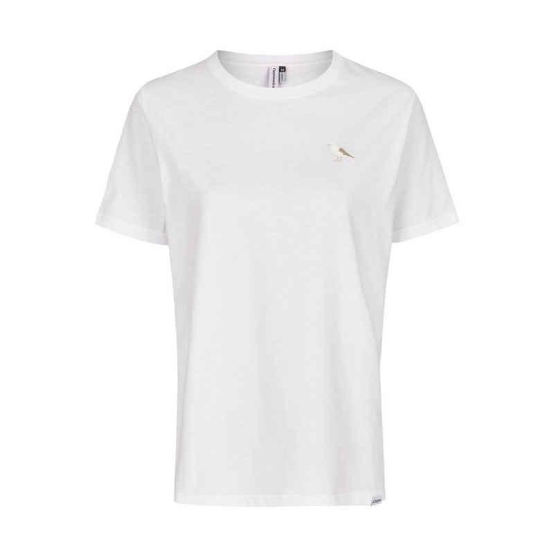 Cleptomanicx T-Shirt »Women Embroidery Gull 2 - white«