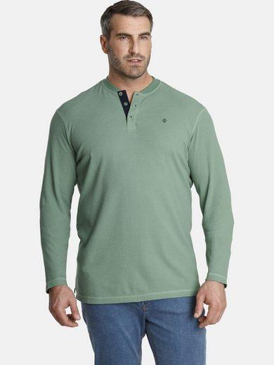 Charles Colby Sweatshirt »EARL DELVIN« mit verzierter Knopfleiste