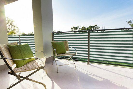 Floracord Balkonsichtschutz BxH: 500x90 cm, grün/weiß