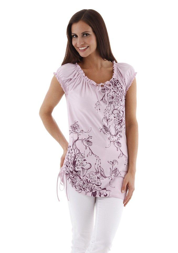 Cheer Longshirt in rosé-lila-bedruckt