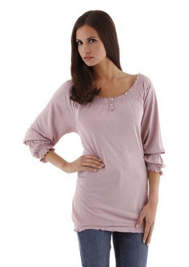 Aniston Rundhalsshirt, mit 3/4-langen Ärmeln