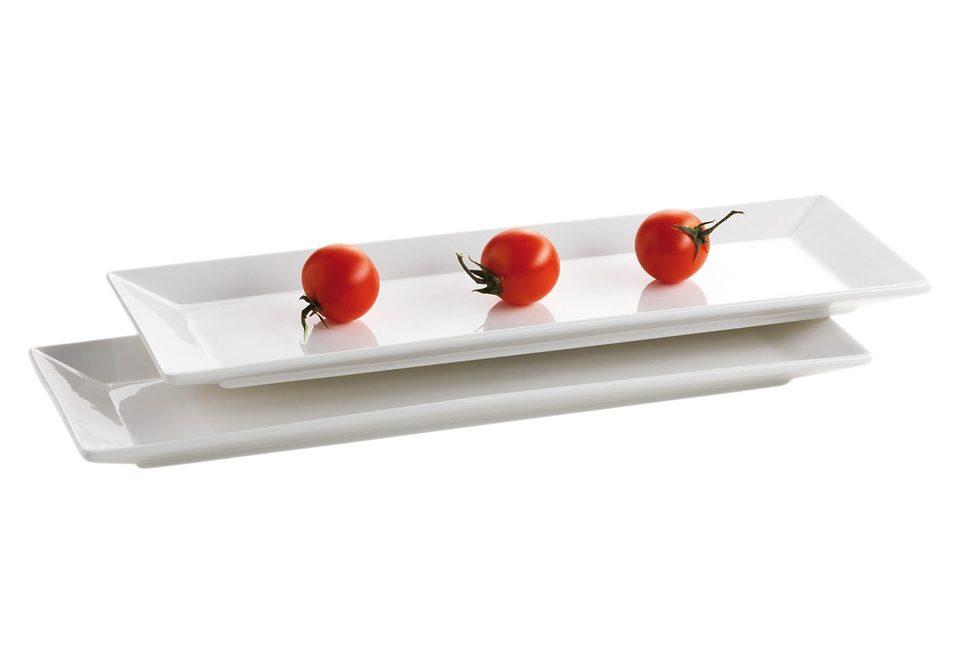 Set: Teller - rechteckig, Domestic, »Trendy Line« (2 Stck.)