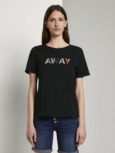TOM TAILOR T-Shirt »T-Shirt mit Schriftprint«