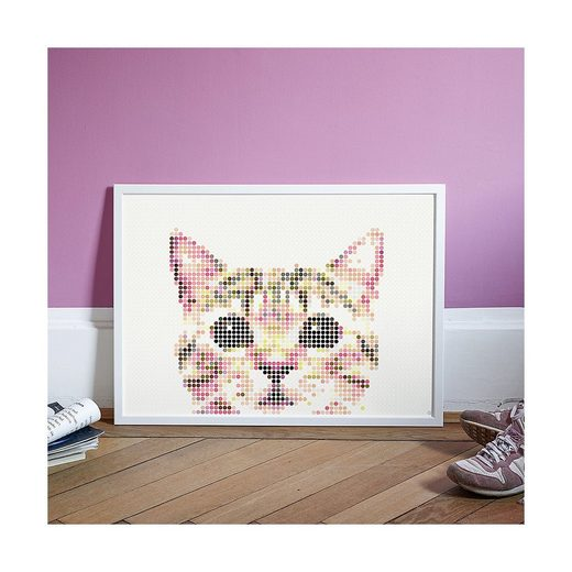 Dot On Malvorlage »dot on art - animals - cat, 50 x 70 cm«
