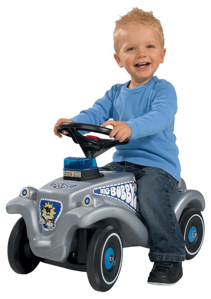BIG Rutscherauto mit Blaulicht und Sound »Big Bobby Classic Polizei« in grau