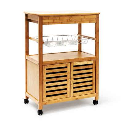 relaxdays Küchenwagen »Küchenrollwagen JAMES XL mit Schrankfach«