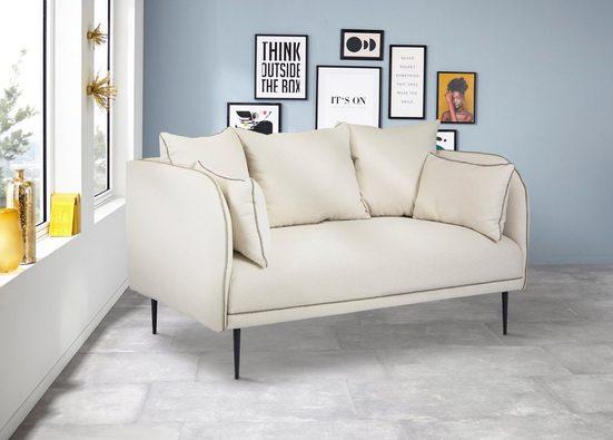 INOSIGN 2-Sitzer »Aalberg«, farblich abgesetzter Keder, lose Kissen, modernes Design