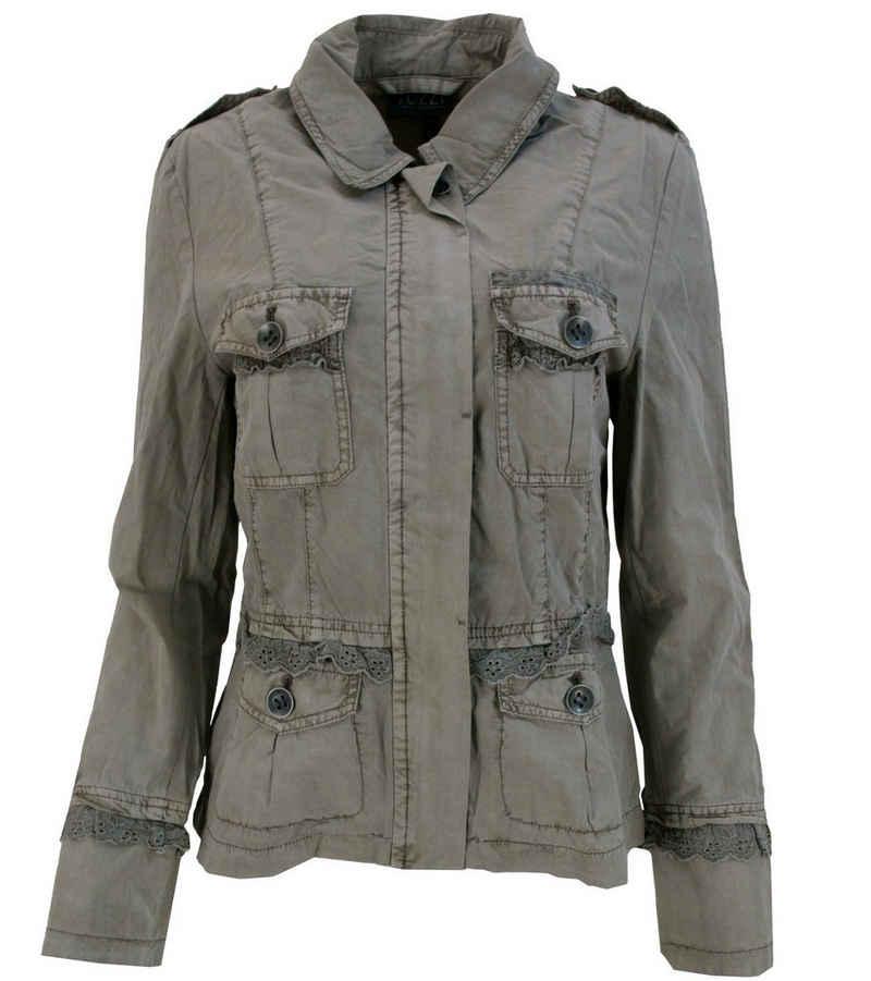 TUZZI Outdoorjacke »TUZZI Sommer-Jacke stylische Damen Jacke für kühlere Sommertage im Uniform-Stil Frühlings-Jacke Braun«
