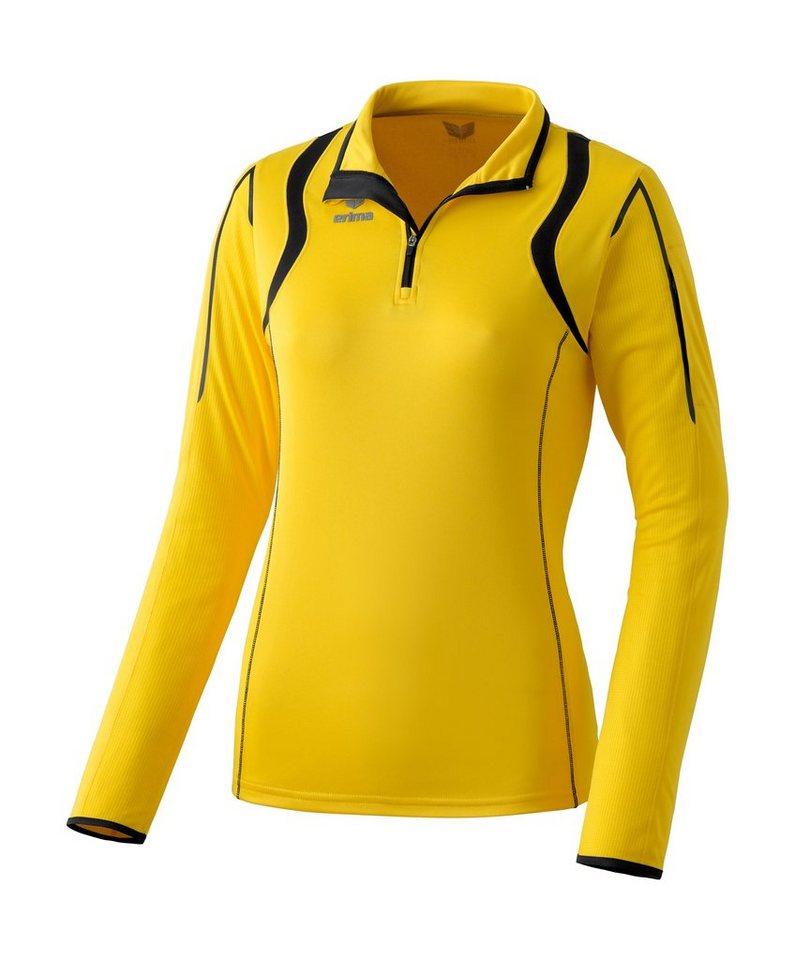ERIMA Razor Line Athletic Longsleeve Damen in gelb / schwarz