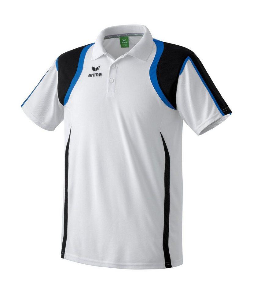 ERIMA Razor Line Poloshirt Kinder in weiß/schwarz/blau