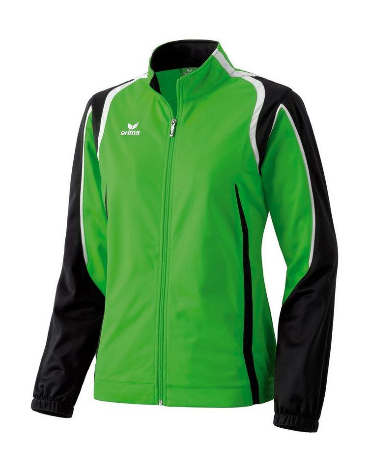 ERIMA Razor Line Polyesterjacke Damen in grün / schwarz