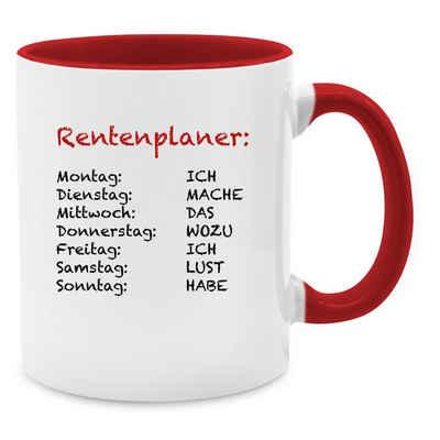 Shirtracer Tasse »Rentenplaner Ich mache das wozu ich lust habe - Kaffeetasse Job Geschenk - Tasse zweifarbig«, Keramik, Beruf Teetasse
