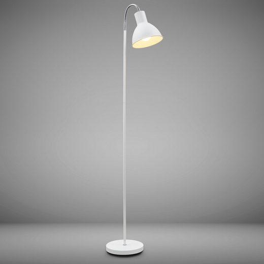 B.K.Licht LED Stehlampe, LED Stehleuchte schwenkbar im industriellen Stil