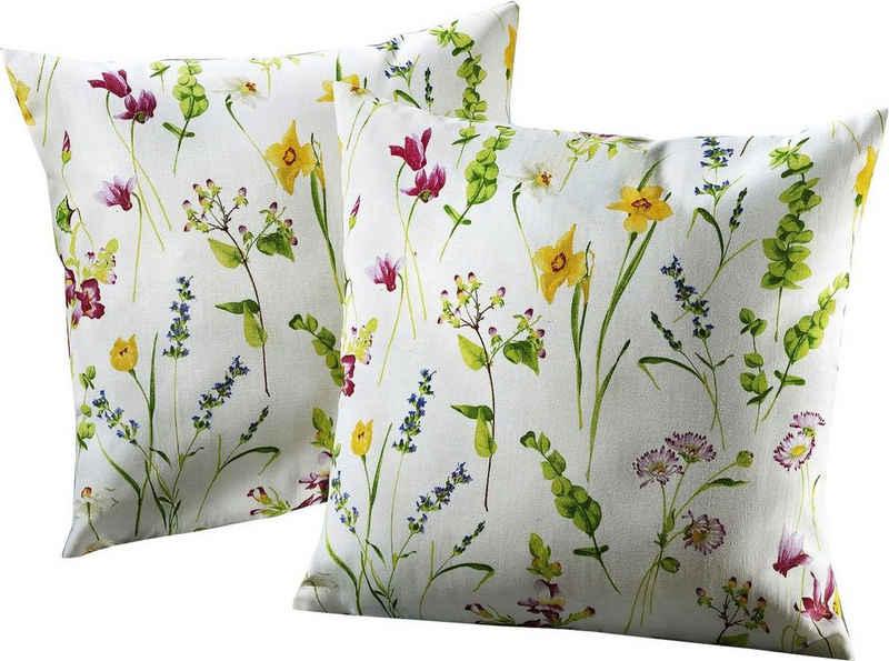Kissenhüllen »Streublümchen«, Dohle&Menk (2 Stück), mit floralem Design (2 Stück)