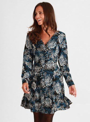 Mavi Chiffonkleid »PRINTED BUTTONED DRESS« mit Muster