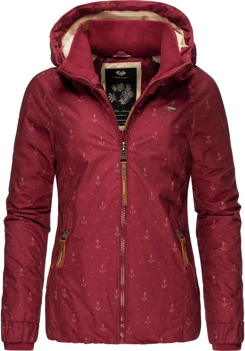 Ragwear Winterjacke »Dizzie Marina Winter Intl.« Warme Outdoorjacke mit maritimem Print