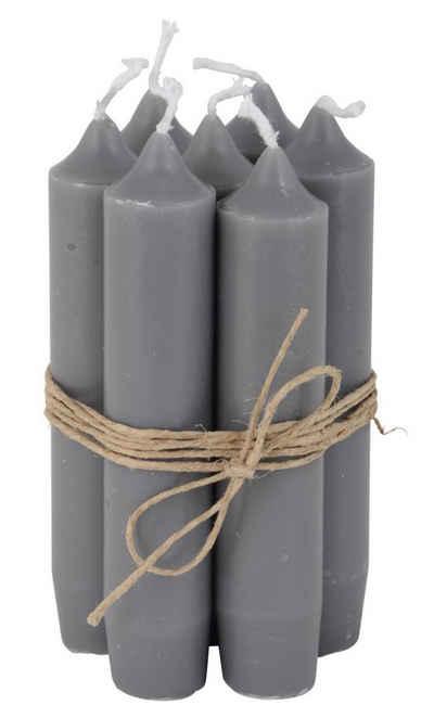 """Ib Laursen Kerzenhalter, 8er Set, tolle im Vintage-Stil klassische Stabkerzen im Landhauslook. Farbe """" DUNKELGRAU """". Schmal geschnitten, 2,2 cm Durchmesser, Höhe 11 cm, Hoher Neidfaktor."""