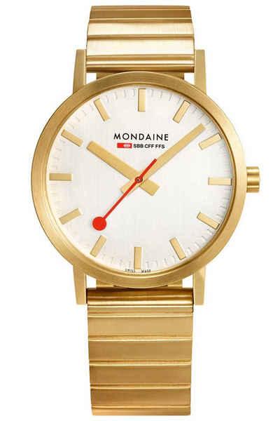MONDAINE Quarzuhr »Unisex-Armbanduhr Classic Goldfarben«