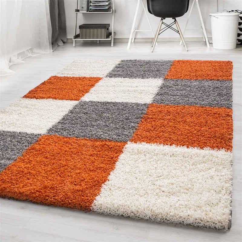 Hochflor-Teppich »Moderner Hochflor-Teppich, Florhöhe 30 mm«, Giantore, rechteck, Höhe 30 mm