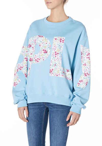 Replay Sweatshirt mit Schiftzug über das ganze Oberteil