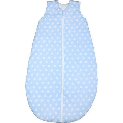 Odenwälder Babyschlafsack »Sommer-Schlafsack, white stars cool blue Gr.«