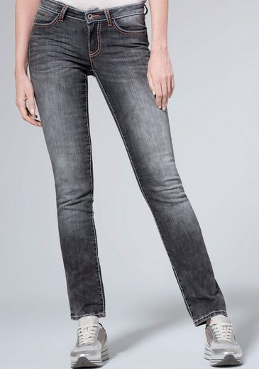 SOCCX Straight-Jeans »RO:MY« mit auffälligen Deko-Steppnähten