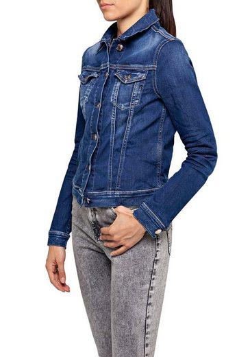 Replay Jeansjacke mit auffälligen Knöpfen