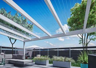 Tetzner & Jentzsch Terrassendach »POLY BREITKAMMER«, 5085x3500, brillante Optik, hoher Hagelschutz