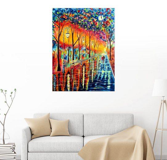 Posterlounge Wandbild, Spaziergang im Regen