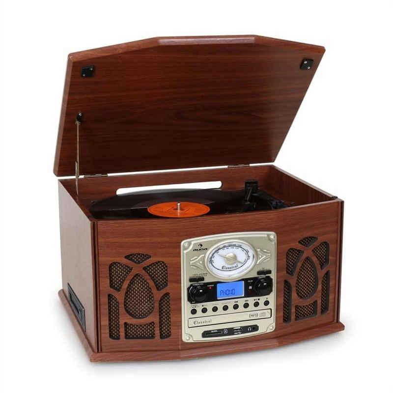 Auna »NR-620 Stereoanlage Plattenspieler MP3-Aufnahme Holzgehäuse« Plattenspieler