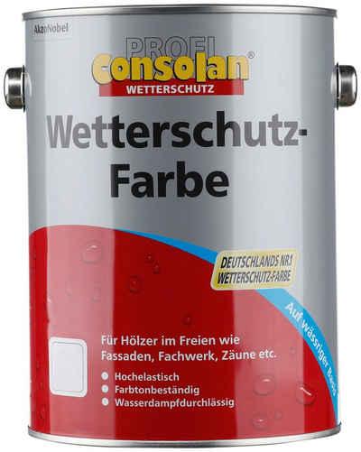 Consolan Wetterschutzfarbe »Profi Holzschutz«, 2,5 Liter, weiß