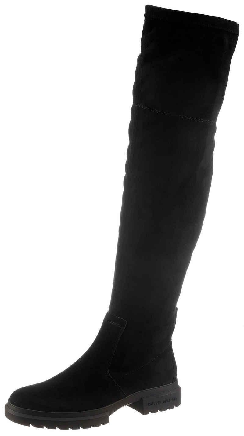 Calvin Klein Overkneestiefel mit kurzem Innenreißverschluss