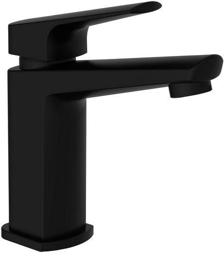 SCHÜTTE Waschtisch-Einhebelmischer »RAVEN«, Badarmatur mit Ablaufgarnitur und Abflussstopfen