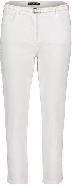 Hosen - Betty Barclay Röhrenhose mit Gürtel › weiß  - Onlineshop OTTO
