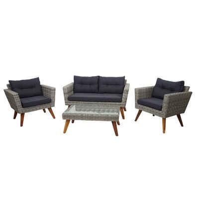 MCW Polstergarnitur »MCW-E93«, Garten, Inklusive Sitz- und Rückenkissen, Polsterbezüge abnehmbar, Sitz- und Bankauflage mit Reißverschluss