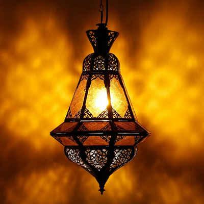Casa Moro Deckenleuchte »Orientalische Lampe Houta Gelb H 52 cm, Kunsthandwerk aus Marokko wie aus 1001 Nacht, marokkanische Hängelampe, L1936 (Gelb)«