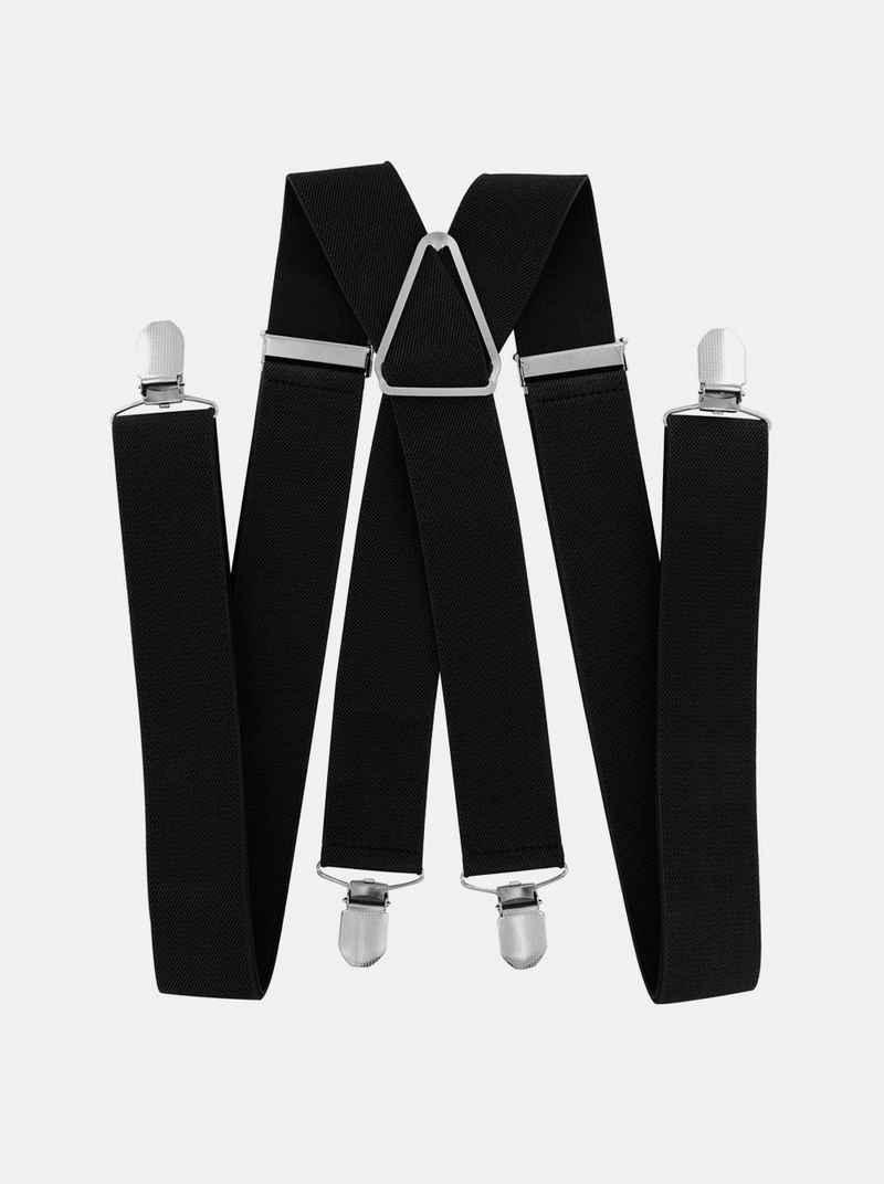 axy Hosenträger »HB35« Herren Hosenträger 4 Stabile Clips X-Form 3,5cm Breit verstellbar und elastisch 120cm Lang