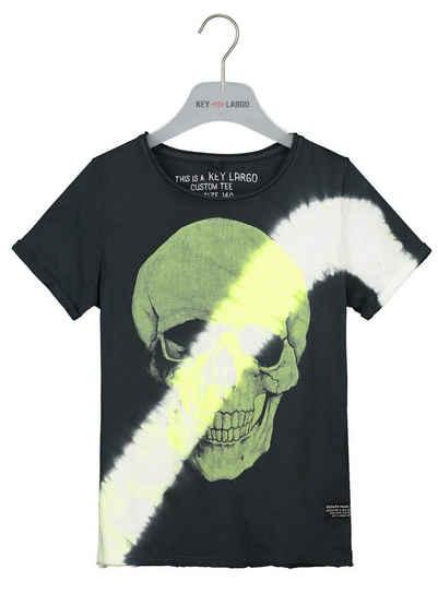 Key Largo T-Shirt mit coolem Totenkopf-Print