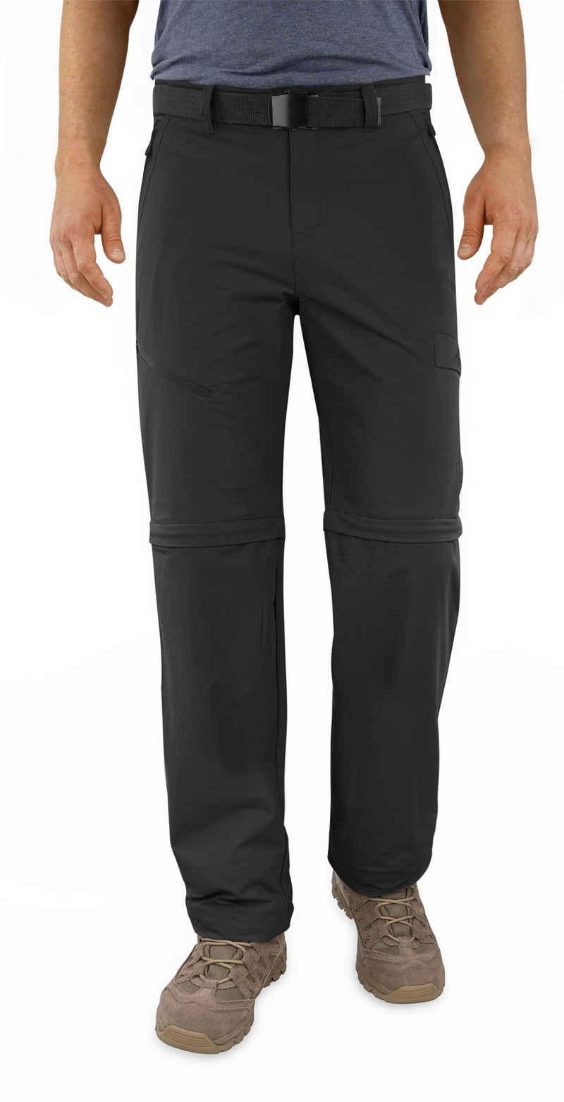 normani Zip-off-Hose »Herren 2-in-1 Zip-Off Softshellhose Daventry« Outdoorhose Wanderhose Sommerhose mit Sonnenschutzfaktor 50+