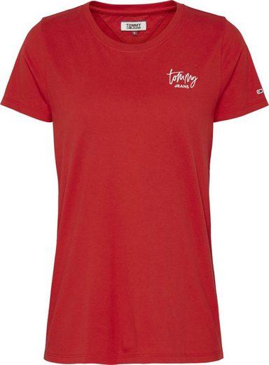 TOMMY JEANS Rundhalsshirt »TJW EMBROIDERY LOGO TEE« mit gesticktem Tommy Jeans Signature Logo-Schriftzug auf der Brust