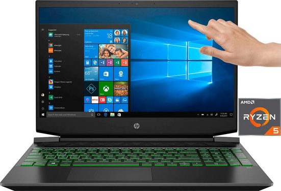 HP Pavilion - 15-ec1234ng Notebook (39,6 cm/15,6 Zoll, AMD Ryzen 5, GTX 1650, - GB HDD, 512 GB SSD, inkl. Office-Anwendersoftware Microsoft 365 Single im Wert von 69 Euro)