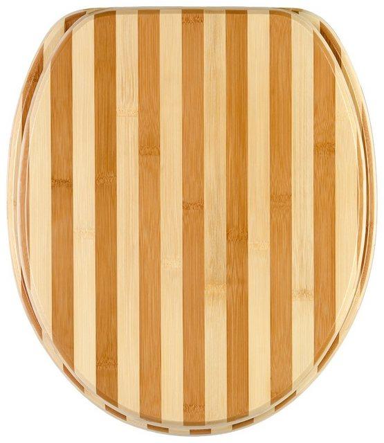 WCs und Zubehör - Sanilo WC Sitz »Bambus Gestreift«, mit Absenkautomatik  - Onlineshop OTTO