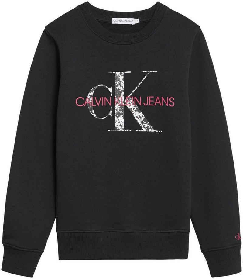 Calvin Klein Jeans Sweatshirt »FLORAL MONOGRAM LOGO SWE« mit modischem Logodruck
