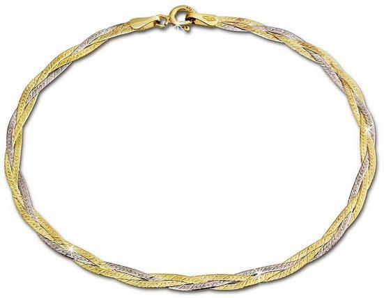 GoldDream Goldarmband »GDA0009T GoldDream 19cm Damen Armband geflochten« (Armbänder), Armbänder für Damen aus 333 Gelbgold - 8 Karat, 333 Weißgold - 8 Karat, Farbe: gold