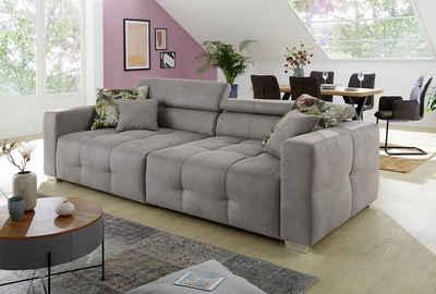 Jockenhöfer Gruppe Big-Sofa, mit Wellenfederung für einen angenehmen Sitzkomfort und mehrfach verstellbare Kopfstützen