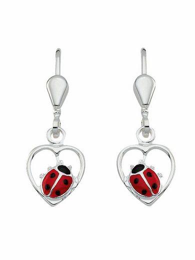 Adelia´s Paar Ohrhänger »925 Silber Ohrringe / Ohrhänger Marienkäfer«, Silberschmuck für Damen
