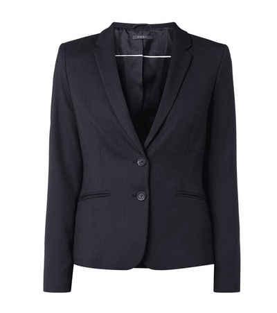 Esprit Kurzblazer »ESPRIT Blazer schicke Damen Business-Jacke mit feinem Webmuster Freizeit-Blazer Marineblau«